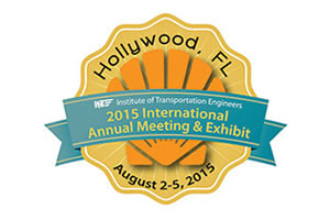 Logo for the 2015 ITE Annual Meeting and Exhibit in Hollywood, Florida.