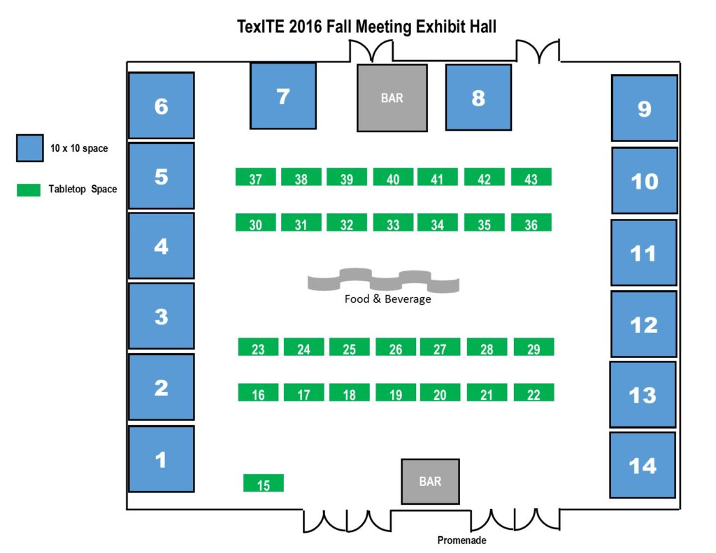 Graphic layout of exhibit hall.